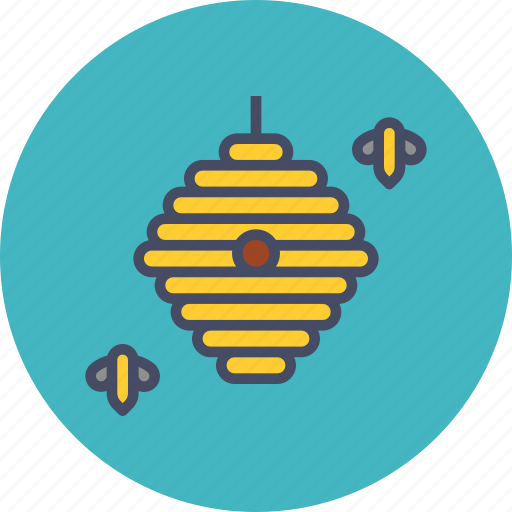 apiary, bee, comb, hive, honey, insect, nectar icon