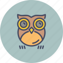 bird, halloween, horror, night, nocturnal, omen, owl icon