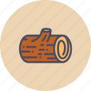 autumn, block, forest, log, lumberjack, wood, wooden icon
