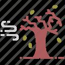 autumn, fall, leaves, season, tree, wind, windy icon