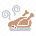 chicken, dinner, food, meal, thanksgiving, turkey, hygge icon
