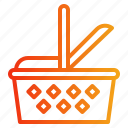 basket, camping, food, market, picnic icon