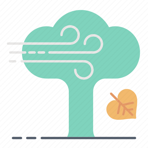 autumn, fall, leaves, tree, trunk icon
