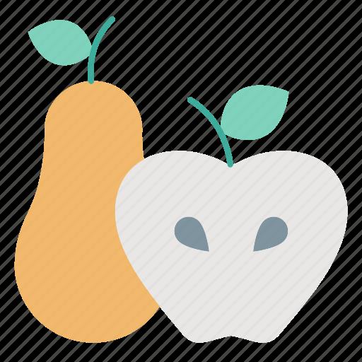 apple, autumn, fruit, pear, produce, spring icon
