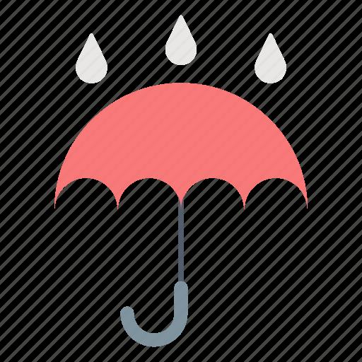 autumn, freesing, umbrella, weather icon