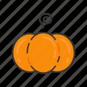 autumn, fall, halloween, pumpkin, season, vegetable icon