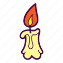 candle, flame, light, melt, wax icon
