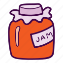glass, jam, jar, marmalade icon
