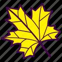 autumn, fall, leaf, maple, tree icon