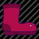 boot, footwear, rubber, waterproof icon