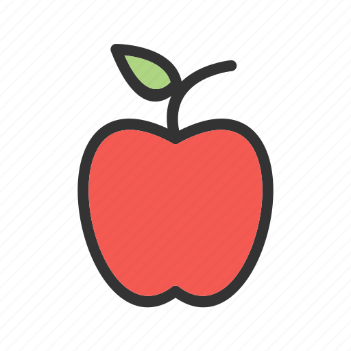 apple, food, fresh, green, healthy, red, sweet icon