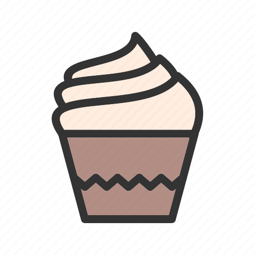 cake, cream, cup, cupcake, dessert, icing, muffin icon