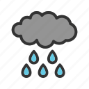 autumn, clouds, dark, rain, sky, storm, weather icon