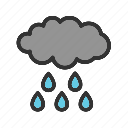 autumn, clouds, dark, rain, sky, storm, weather icon