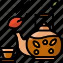 autumn, cup, fall, hot, leafs, mug, tea icon