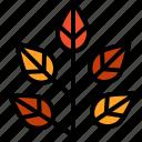autumn, leafs, plant, tree icon