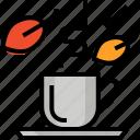 autumn, cup, fall, hot, leafs, tea icon
