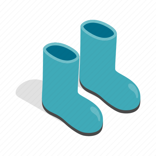 Boots, gardening, isometric, play, protection, rubber, seasonal icon - Download on Iconfinder