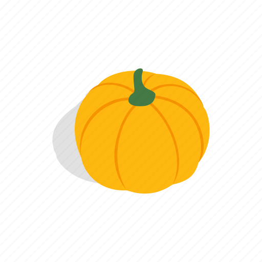 Autumn, food, harvest, isometric, pumpkin, vegetable, vegetarian icon - Download on Iconfinder