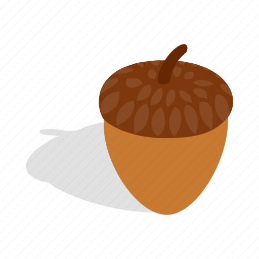 Acorn, isometric, nature, nut, oak, plant, seed icon - Download on Iconfinder