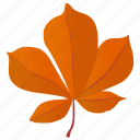 autumn leaf, foliage, hickory leaf, horse chestnut, leaf, leaf in fall icon