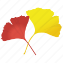 autumn leaf, foliage, ginkgo biloba, ginkgo leaves, leaf in fall icon