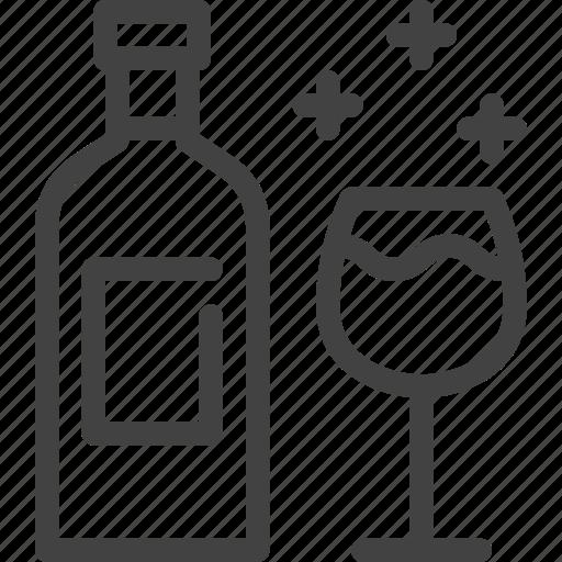 autumn, bottle, drink, glass, wine icon