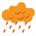 autumn, cloud, cloudy, fall, forecast, rain, weather icon