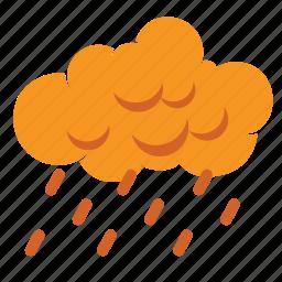 autumn, cloud, cloudy, fall, forecast, rain, weather icon
