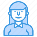 avatar, people, profile, teacher, user, woman icon
