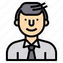 avatar, business, man, people, profile, user, worker