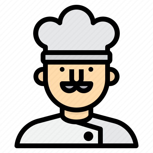 avatar, chef, cook, people, profile, user icon