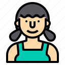 avatar, maid, people, profile, user, woman icon