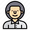 avatar, man, people, profile, user, worker icon