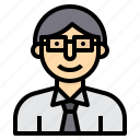 avatar, businessman, people, profile, teacher, user icon