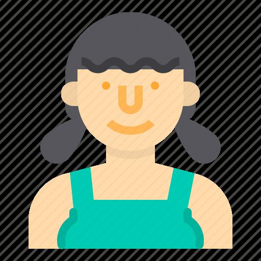 avatar, maid, people, profile, user, woman icon