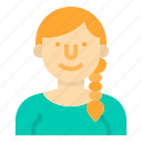 avatar, girl, people, profile, user, woman, worker