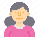 avatar, people, profile, user, woman, worker icon