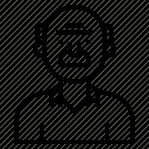 avatar, grandfather, oldman, people, profile, user icon