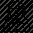avatar, maid, people, profile, user icon