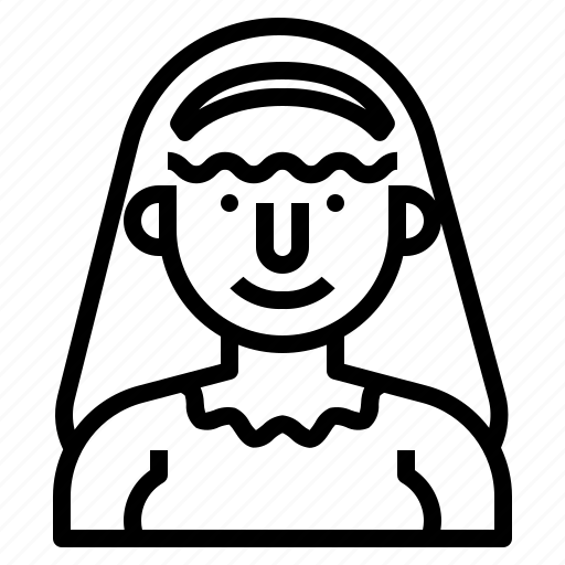 avatar, maid, people, profile, user, worker icon