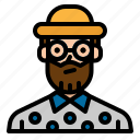 artist, avatar, man, single, traveller icon