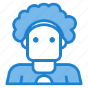 avatar, curly, man, people, profile icon