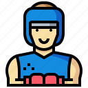 avatar, boxer, human, man, occupation, profession icon