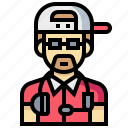 avatar, dj, human, man, occupation, profession icon