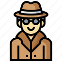 avatar, detective, human, man, occupation, profession icon