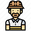 avatar, fishing, human, man, occupation, profession icon