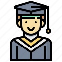 avatar, graduate, human, man, occupation, profession icon