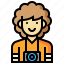 avatar, human, man, occupation, photographer, profession icon
