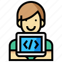 avatar, human, man, occupation, profession, programmer icon